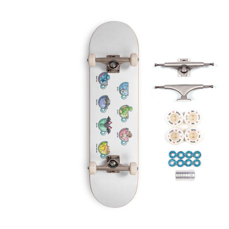 Kawaii Cute Tea Puns Collection Accessories Complete - Premium Skateboard by Flaming Imp's Artist Shop