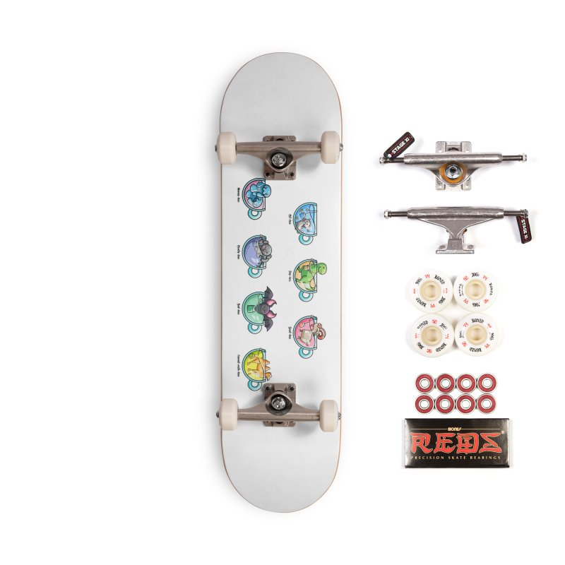 Kawaii Cute Tea Puns Collection Accessories Complete - Pro Skateboard by Flaming Imp's Artist Shop