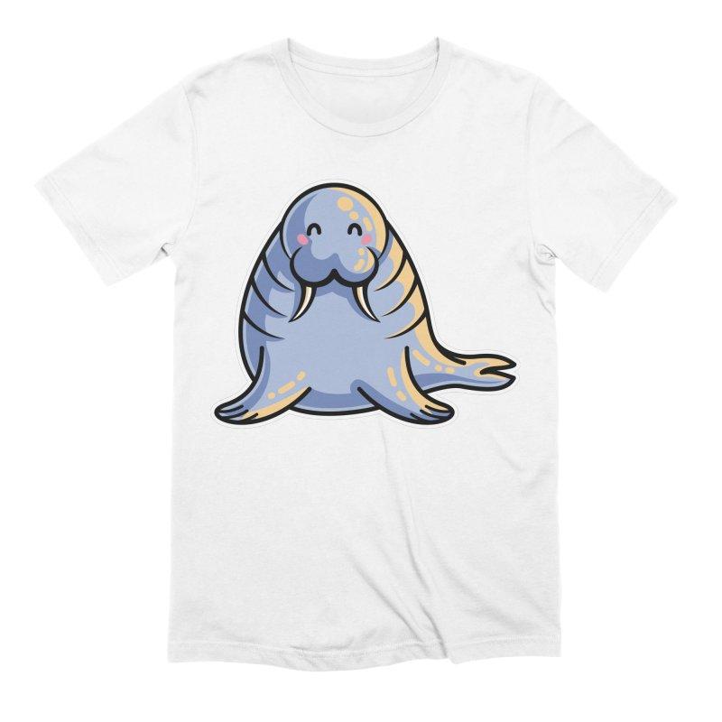 Kawaii Cute Walrus Men's Extra Soft T-Shirt by Flaming Imp's Artist Shop