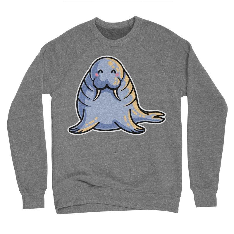 Kawaii Cute Walrus Men's Sponge Fleece Sweatshirt by Flaming Imp's Artist Shop