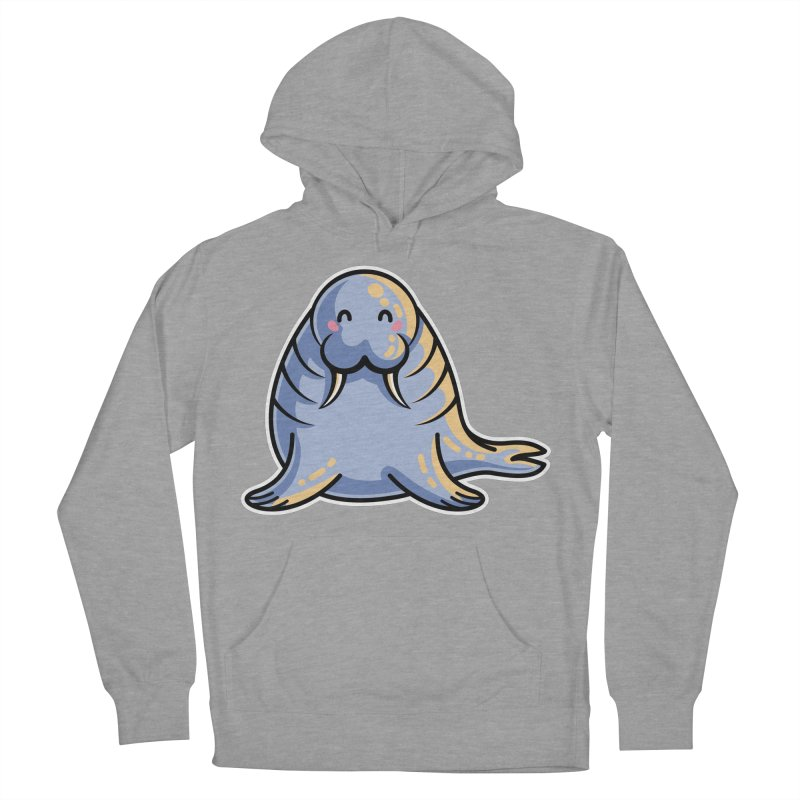 Kawaii Cute Walrus Men's French Terry Pullover Hoody by Flaming Imp's Artist Shop
