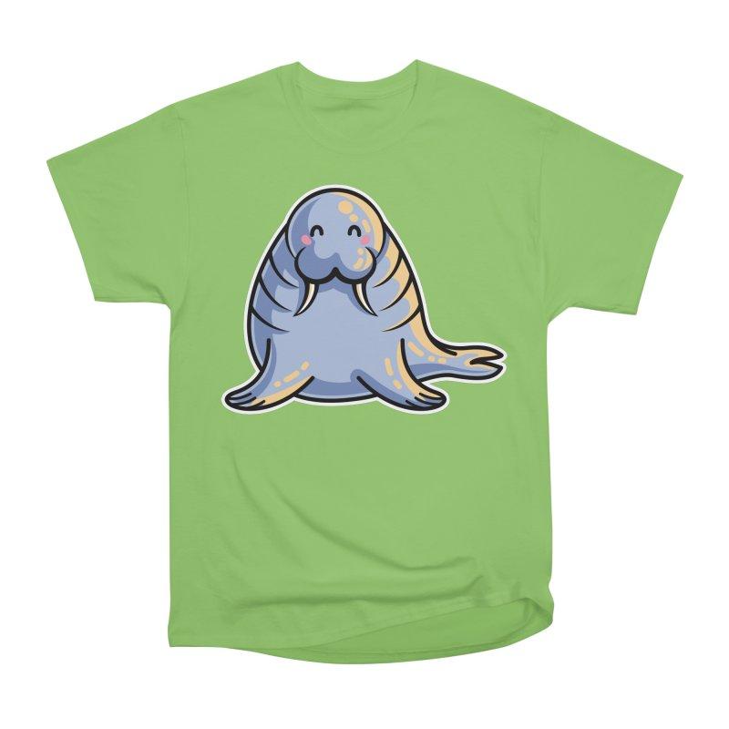 Kawaii Cute Walrus Men's Heavyweight T-Shirt by Flaming Imp's Artist Shop