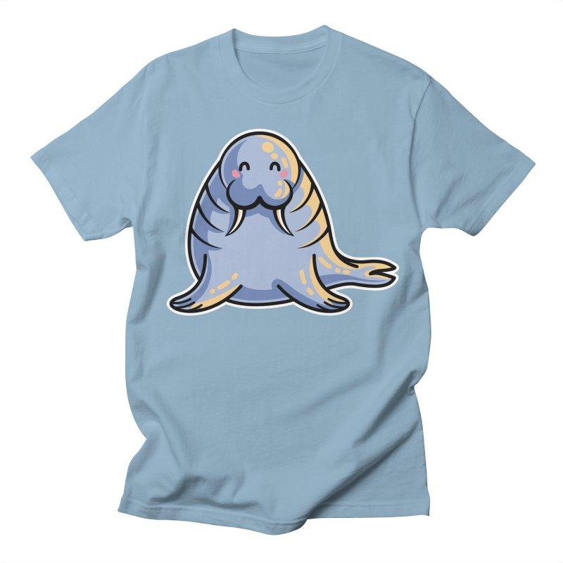 Kawaii Cute Walrus Women's Regular Unisex T-Shirt by Flaming Imp's Artist Shop