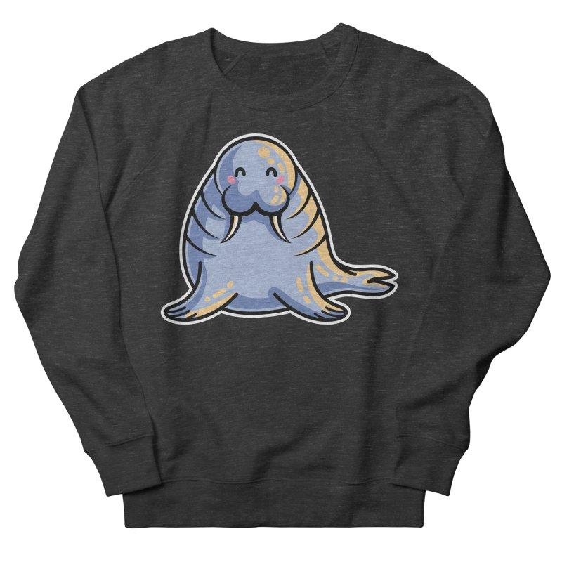 Kawaii Cute Walrus Women's French Terry Sweatshirt by Flaming Imp's Artist Shop