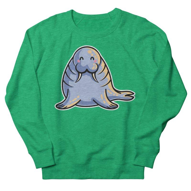 Kawaii Cute Walrus Men's French Terry Sweatshirt by Flaming Imp's Artist Shop
