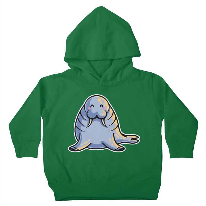 Kawaii Cute Walrus Kids Toddler Pullover Hoody by Flaming Imp's Artist Shop