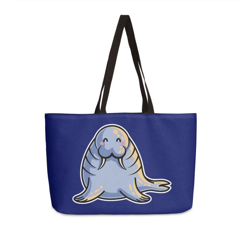 Kawaii Cute Walrus Accessories Weekender Bag Bag by Flaming Imp's Artist Shop