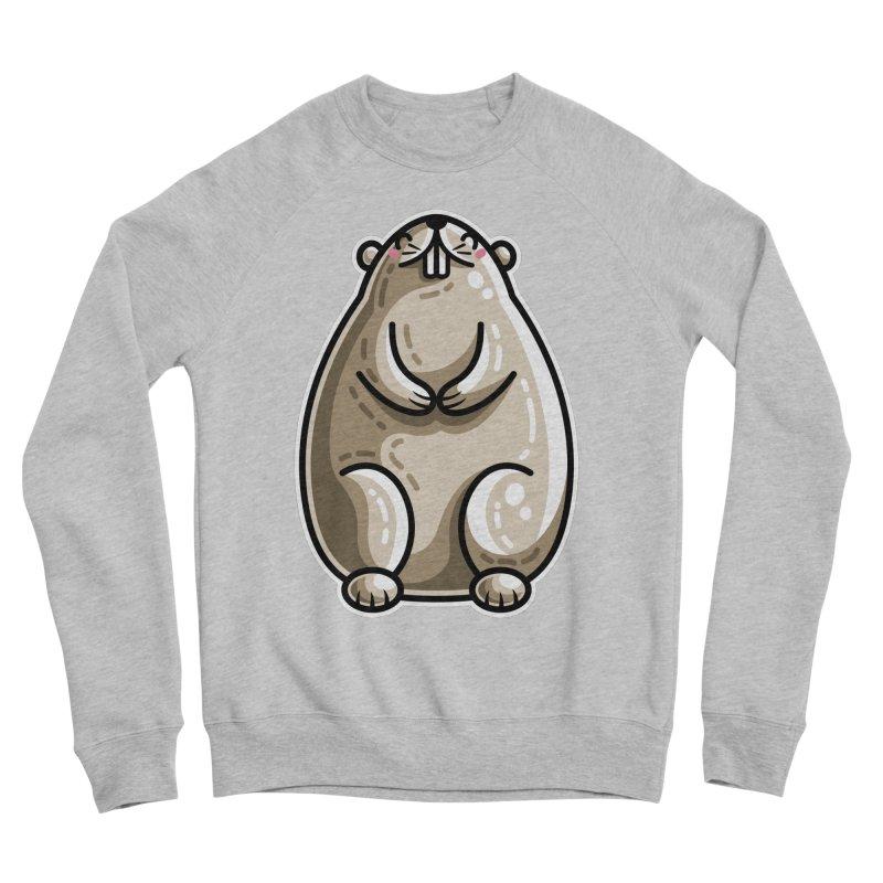 Kawaii Cute Marmot Groundhog Women's Sponge Fleece Sweatshirt by Flaming Imp's Artist Shop