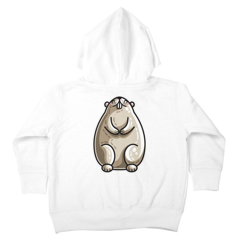 Kawaii Cute Marmot Groundhog Kids Toddler Zip-Up Hoody by Flaming Imp's Artist Shop