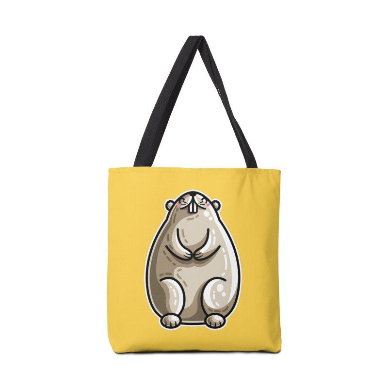 Kawaii Cute Marmot Groundhog Accessories Tote Bag Bag by Flaming Imp's Artist Shop