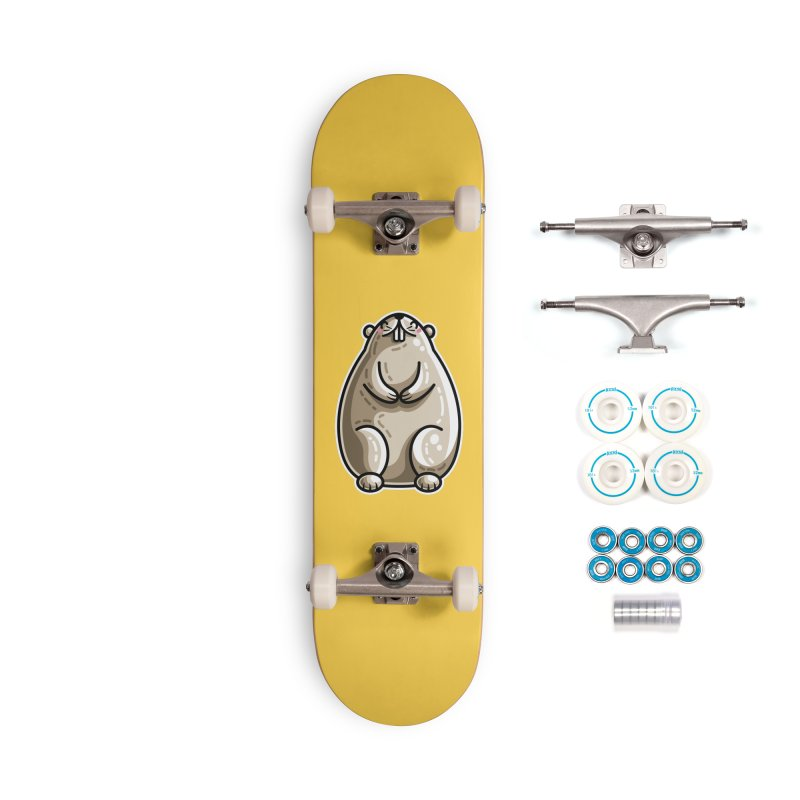Kawaii Cute Marmot Groundhog Accessories Complete - Basic Skateboard by Flaming Imp's Artist Shop