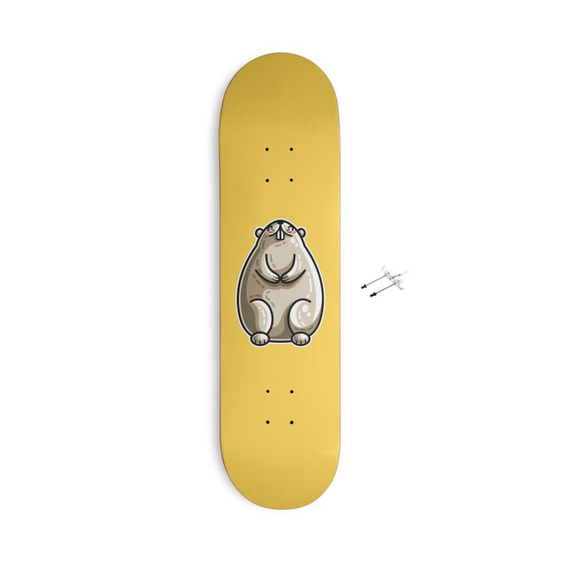 Kawaii Cute Marmot Groundhog Accessories With Hanging Hardware Skateboard by Flaming Imp's Artist Shop