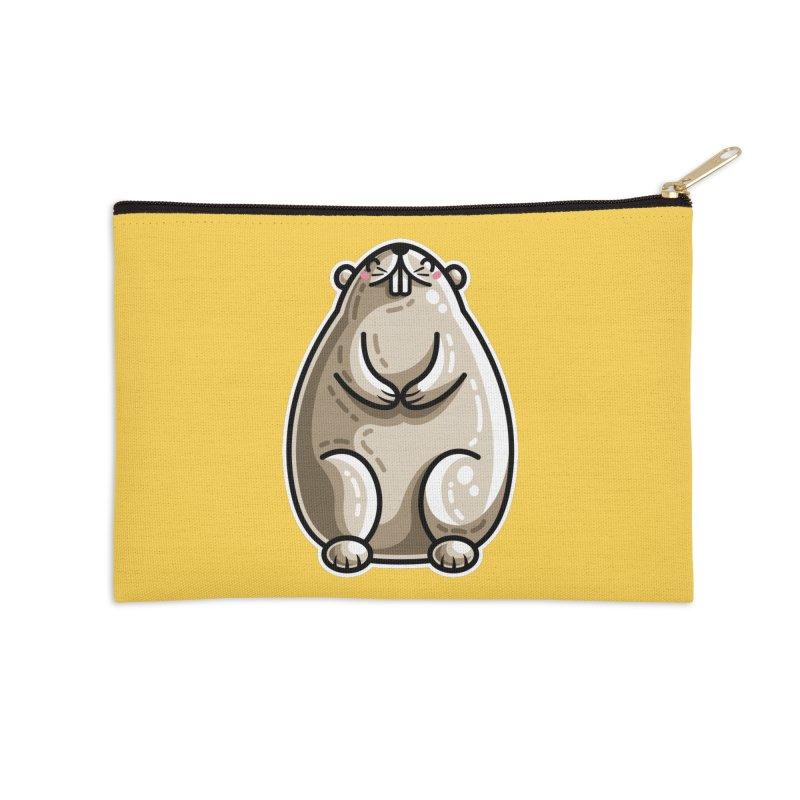 Kawaii Cute Marmot Groundhog Accessories Zip Pouch by Flaming Imp's Artist Shop