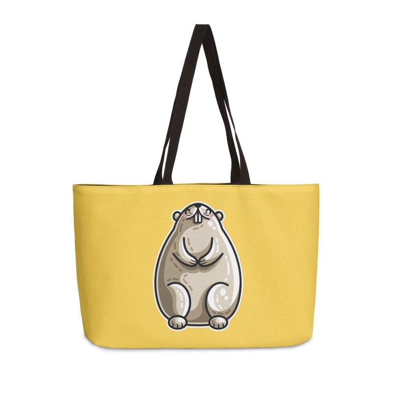 Kawaii Cute Marmot Groundhog Accessories Weekender Bag Bag by Flaming Imp's Artist Shop