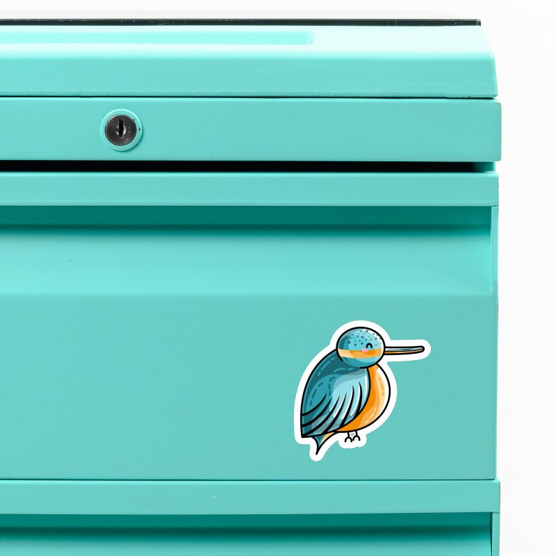 Kawaii Cute Kingfisher Accessories Magnet by Flaming Imp's Artist Shop