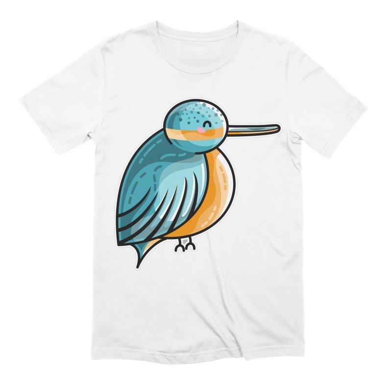 Kawaii Cute Kingfisher Men's Extra Soft T-Shirt by Flaming Imp's Artist Shop