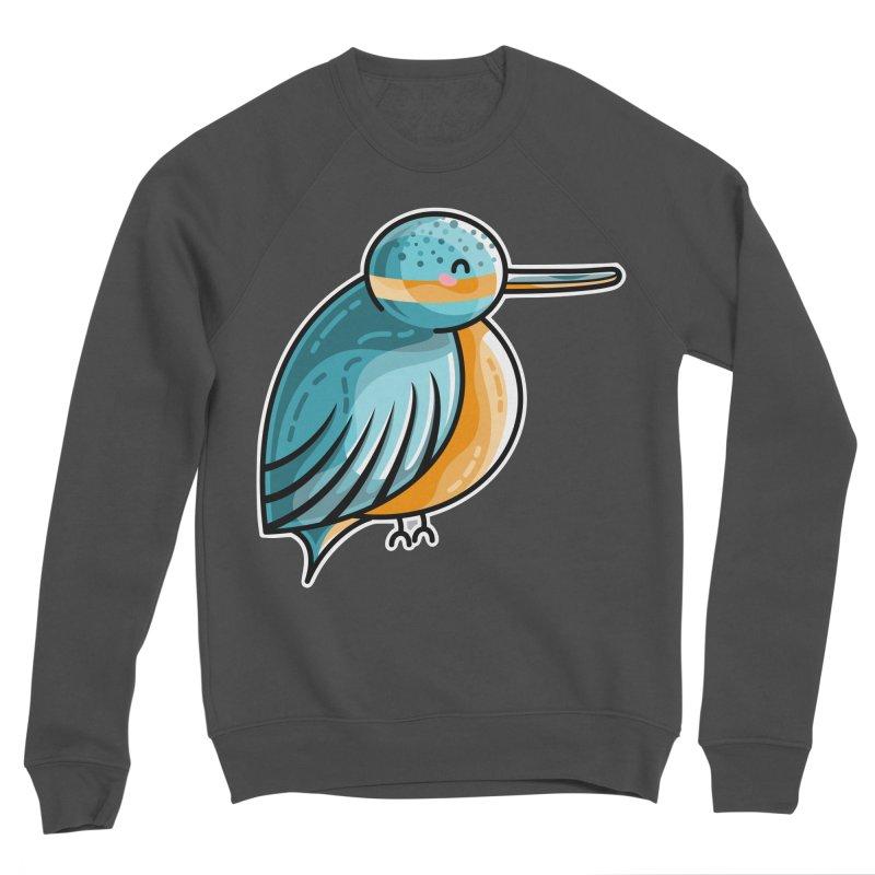 Kawaii Cute Kingfisher Men's Sponge Fleece Sweatshirt by Flaming Imp's Artist Shop
