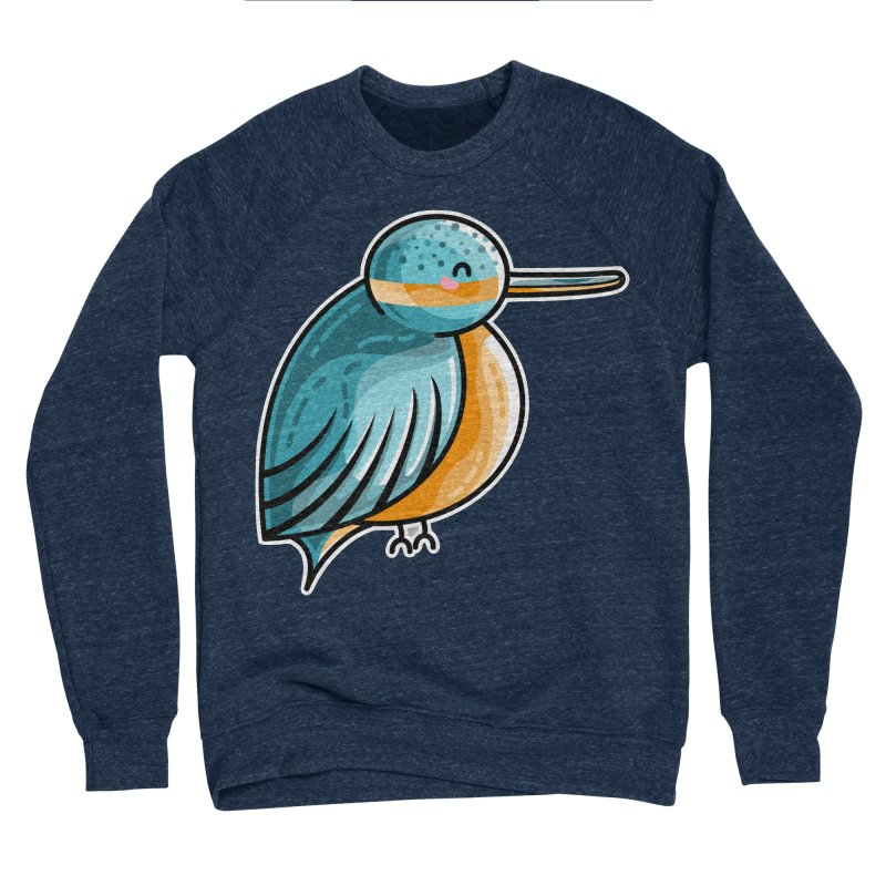 Kawaii Cute Kingfisher Women's Sponge Fleece Sweatshirt by Flaming Imp's Artist Shop