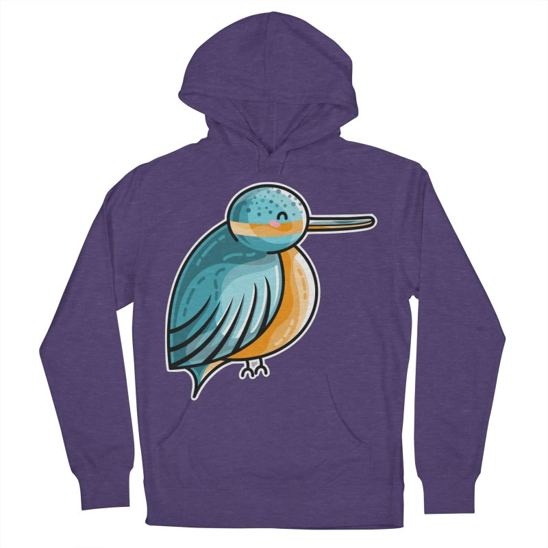 Kawaii Cute Kingfisher Women's French Terry Pullover Hoody by Flaming Imp's Artist Shop