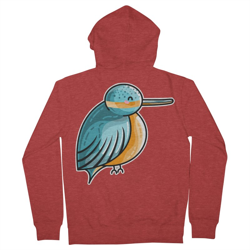 Kawaii Cute Kingfisher Men's French Terry Zip-Up Hoody by Flaming Imp's Artist Shop