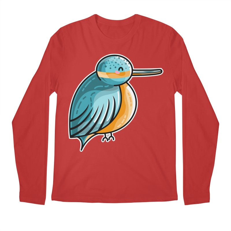 Kawaii Cute Kingfisher Men's Regular Longsleeve T-Shirt by Flaming Imp's Artist Shop