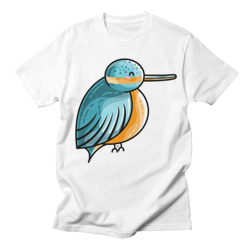 Kawaii Cute Kingfisher Women's Regular Unisex T-Shirt by Flaming Imp's Artist Shop