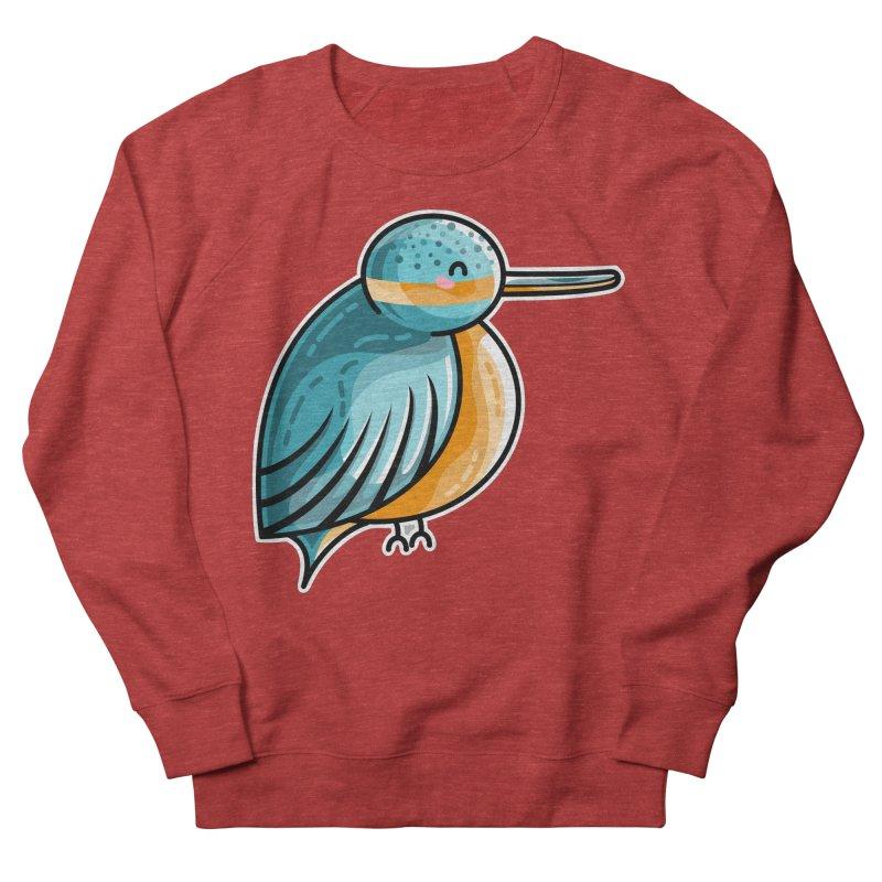 Kawaii Cute Kingfisher Women's French Terry Sweatshirt by Flaming Imp's Artist Shop
