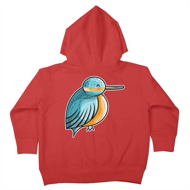 Kawaii Cute Kingfisher Kids Toddler Zip-Up Hoody by Flaming Imp's Artist Shop
