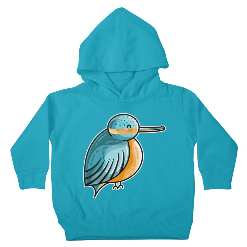 Kawaii Cute Kingfisher Kids Toddler Pullover Hoody by Flaming Imp's Artist Shop