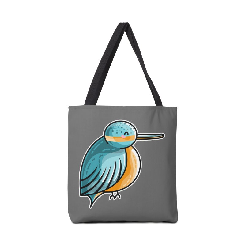 Kawaii Cute Kingfisher Accessories Tote Bag Bag by Flaming Imp's Artist Shop
