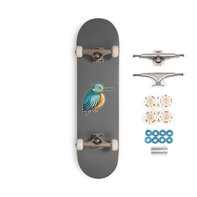 Kawaii Cute Kingfisher Accessories Complete - Premium Skateboard by Flaming Imp's Artist Shop
