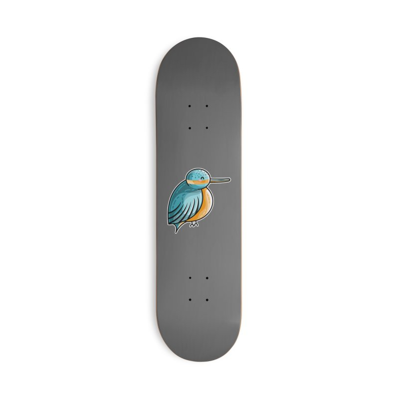 Kawaii Cute Kingfisher Accessories Deck Only Skateboard by Flaming Imp's Artist Shop