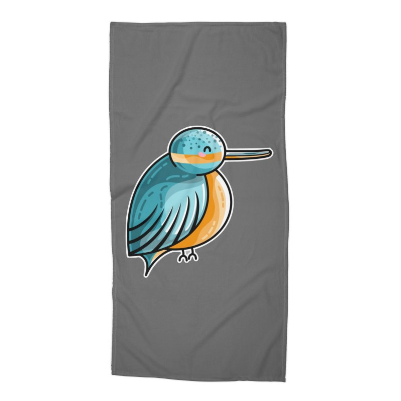 Kawaii Cute Kingfisher Accessories Beach Towel by Flaming Imp's Artist Shop
