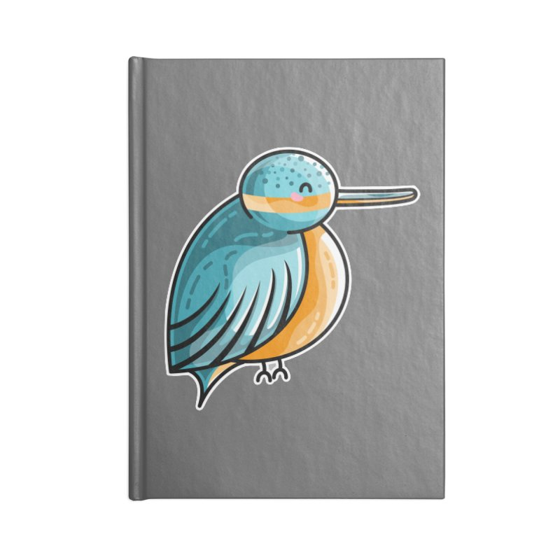 Kawaii Cute Kingfisher Accessories Lined Journal Notebook by Flaming Imp's Artist Shop