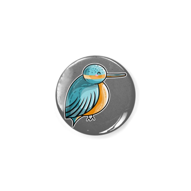 Kawaii Cute Kingfisher Accessories Button by Flaming Imp's Artist Shop