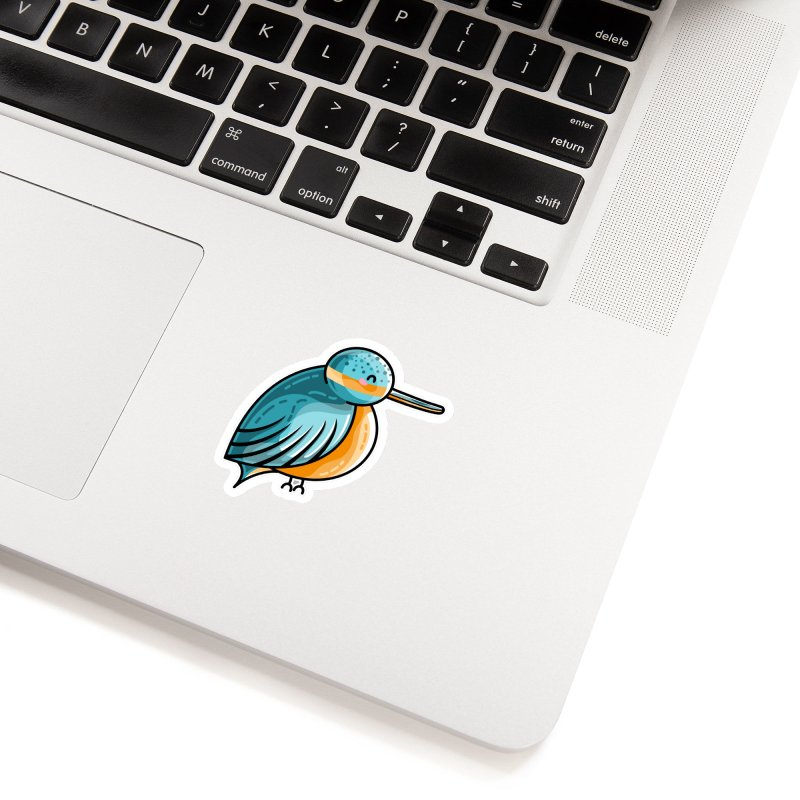 Kawaii Cute Kingfisher Accessories Sticker by Flaming Imp's Artist Shop