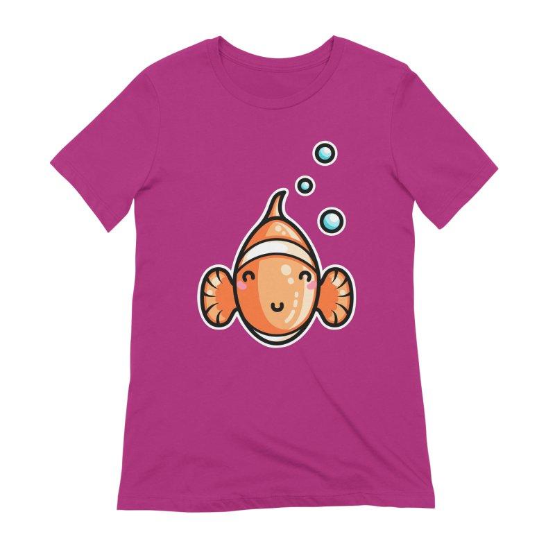 Kawaii Cute Clownfish Women's Extra Soft T-Shirt by Flaming Imp's Artist Shop
