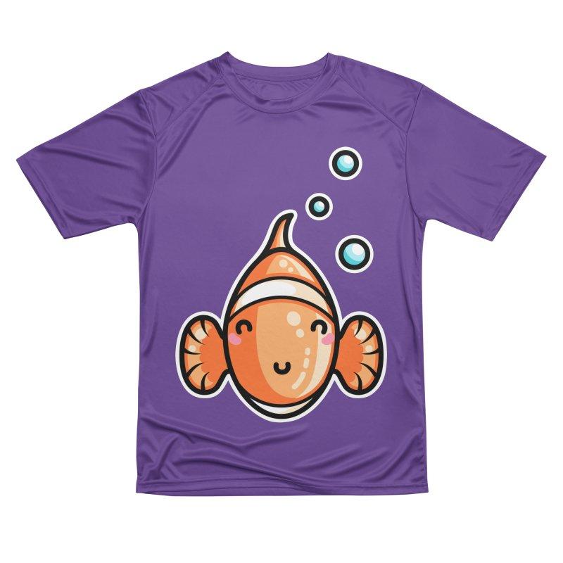 Kawaii Cute Clownfish Women's Performance Unisex T-Shirt by Flaming Imp's Artist Shop