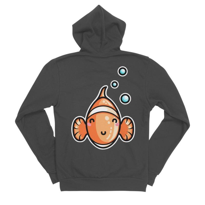 Kawaii Cute Clownfish Men's Sponge Fleece Zip-Up Hoody by Flaming Imp's Artist Shop