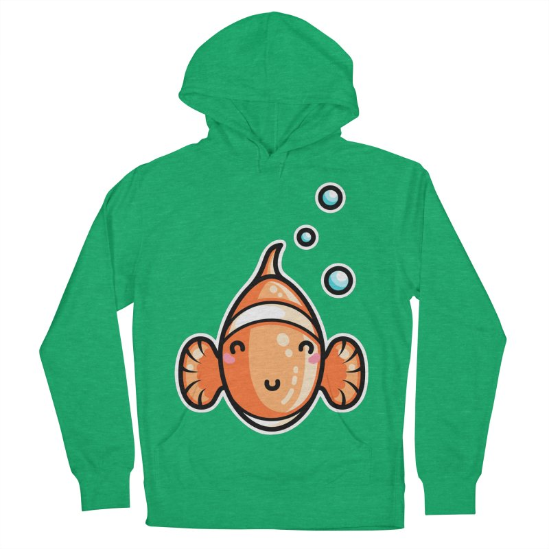 Kawaii Cute Clownfish Women's French Terry Pullover Hoody by Flaming Imp's Artist Shop
