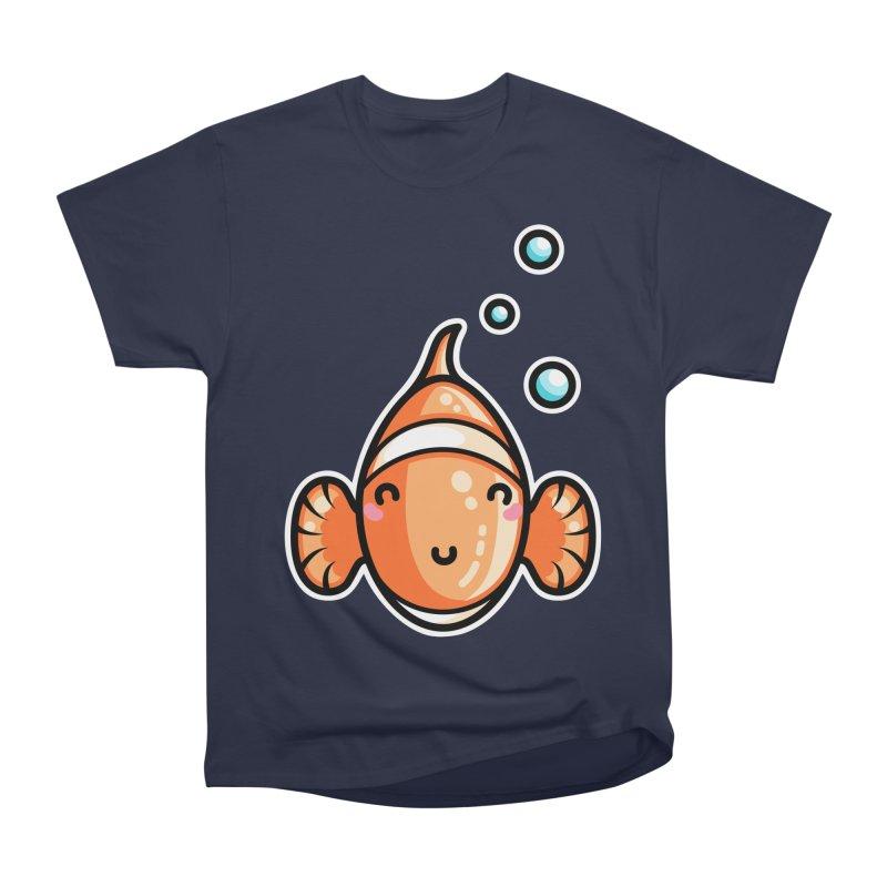 Kawaii Cute Clownfish Men's Heavyweight T-Shirt by Flaming Imp's Artist Shop