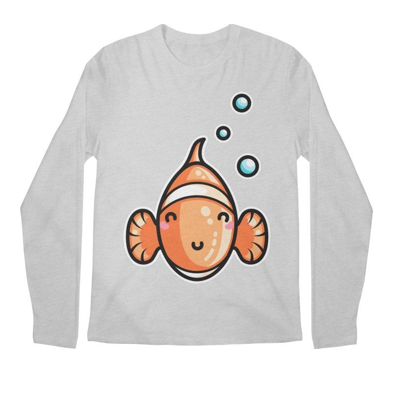 Kawaii Cute Clownfish Men's Regular Longsleeve T-Shirt by Flaming Imp's Artist Shop