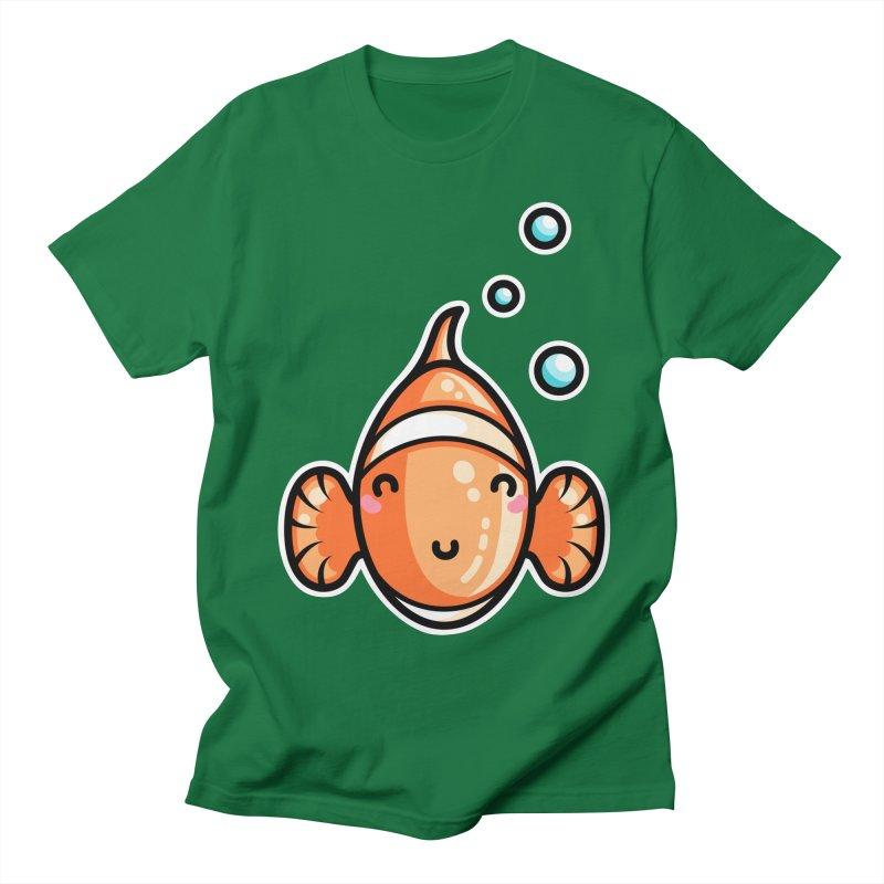 Kawaii Cute Clownfish Women's Regular Unisex T-Shirt by Flaming Imp's Artist Shop