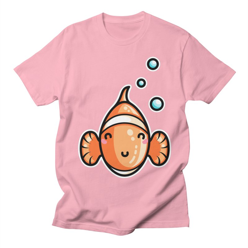 Kawaii Cute Clownfish Men's Regular T-Shirt by Flaming Imp's Artist Shop