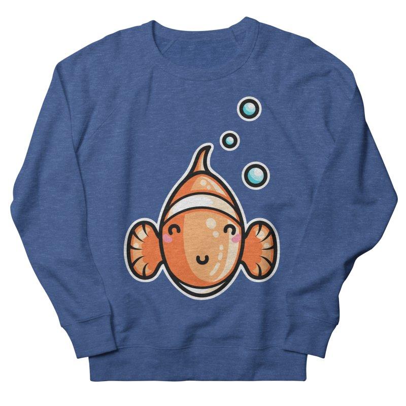 Kawaii Cute Clownfish Men's French Terry Sweatshirt by Flaming Imp's Artist Shop