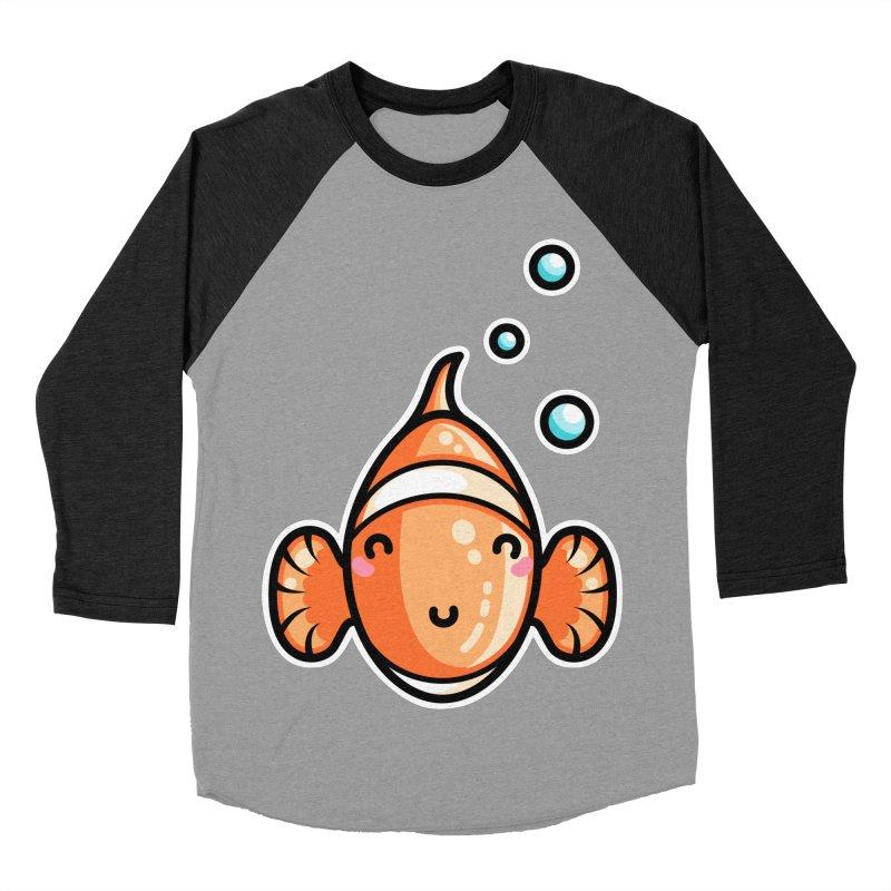 Kawaii Cute Clownfish Women's Baseball Triblend Longsleeve T-Shirt by Flaming Imp's Artist Shop