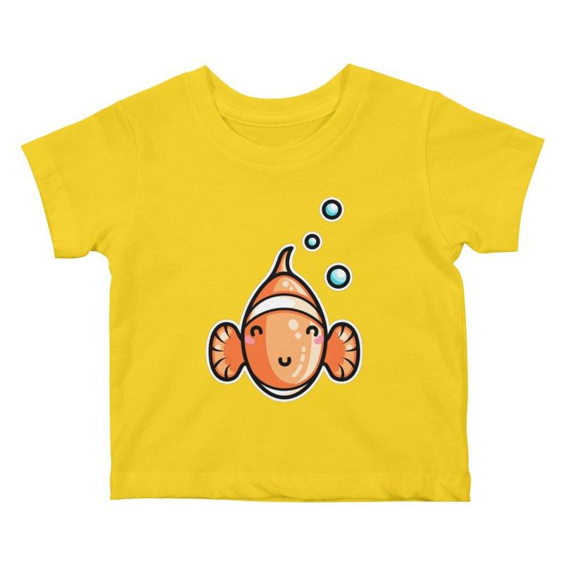 Kawaii Cute Clownfish Kids Baby T-Shirt by Flaming Imp's Artist Shop