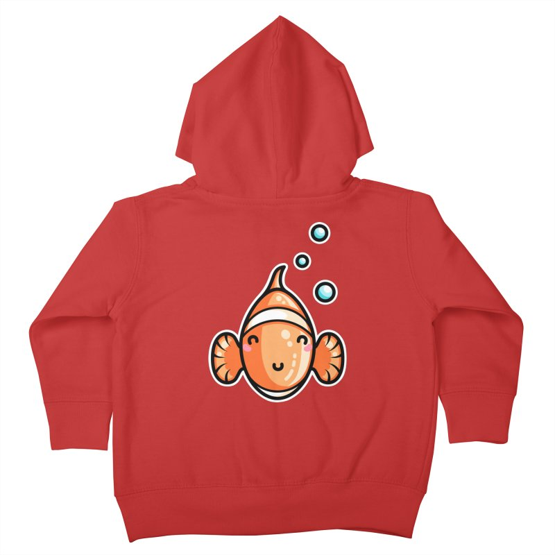 Kawaii Cute Clownfish Kids Toddler Zip-Up Hoody by Flaming Imp's Artist Shop