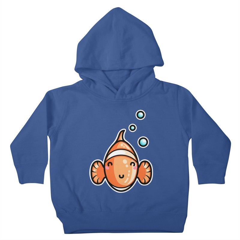 Kawaii Cute Clownfish Kids Toddler Pullover Hoody by Flaming Imp's Artist Shop