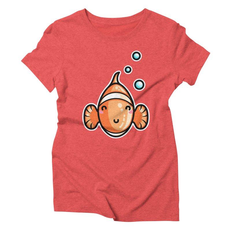 Kawaii Cute Clownfish Women's Triblend T-Shirt by Flaming Imp's Artist Shop